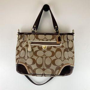 Coach Brown & Gold Signature C Tote Bag